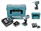 Makita DTW 285 RT1J 18 V Li-Ion Akku Schlagschrauber Solo im Makpac + 1 x BL 1850 5,0 Ah Akku + DC 18 RC Schnellladegerät