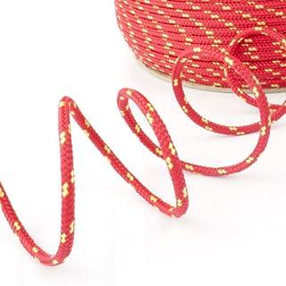 100m POLYPROPYLENSEIL 5mm ROT Polypropylen Seil Tauwerk PP Flechtleine Textilseil Reepschnur Leine Schnur Festmacher Rope Kunststoffseil Polyseil geflochten