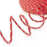 200m POLYPROPYLENSEIL 8mm ROT Polypropylen Seil Tauwerk PP Flechtleine Textilseil Reepschnur Leine Schnur Festmacher Rope Kunststoffseil Polyseil geflochten