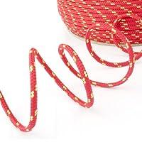 1m POLYPROPYLENSEIL 8mm ROT Polypropylen Seil Tauwerk PP Flechtleine Textilseil Reepschnur Leine Schnur Festmacher Rope Kunststoffseil Polyseil geflochten
