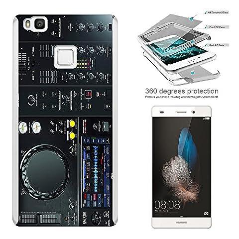 c00627 - Cool Dj Mixer Controller Clubber Music Rave Design Huawei P9 LITE Komplett 360° Grad Vollschutz Schild Hülle Front&Back Hülle +Tempered Glass Screen