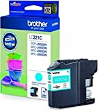 Original Brother ink Cartridge LC221 221 LC-LC Pump Capacity: approx. 260 pages for Brother MFC J 1100 Series – Black (02) 1x Tintenpatrone - Cyan