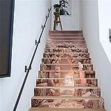 MIYI Treppen-Aufkleber 3D DIY Refurbished Retro Steinsäulen Fliesenaufkleber Entfernbar Wasserdicht Aufkleber Haus Dekoration , B