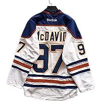 McDavid # 97 Oiler Jersey de Hockey sobre Hielo Camiseta de Hockey sobre Hielo Hockey sobre Hielo Ropa Deportiva Juego Uniforme del Equipo Suelto Tallas Grandes Uniforme de béisbol Blanco XXL