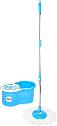 Amazon Brand - Presto! Spin Mop Set with Easy Wheels