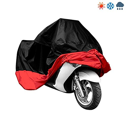 Sel Natural Wasserdicht Motorrad Garage Abdeckplane Schwarz 245X105X125 CM