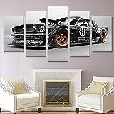Affiche Moderne Décor À La Maison Mur Art Photos pour Le Salon 5 Pièces Peinture De Voiture Toile HD Imprimé
