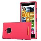 Cadorabo Hülle für Nokia Lumia 830 - Hülle in Frost ROT – Handyhülle aus TPU Silikon im matten Frosted Design - Silikonhülle Schutzhülle Ultra Slim Soft Back Cover Case Bumper
