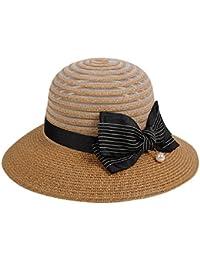 Estate Cappello Di Paglia Signora Moda Pieghevole Grande Cappello A Tesa  Sole Spiaggia Di Viaggi Cappello a7c229d44fd4