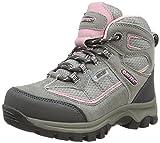 Hi-Tec  Hillside Wp Jrg, Chaussures de randonnée à tige haute mixte enfant - Gris - Grey (Grey/Pink 051),  - 3 UK (35 EU)