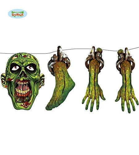 ande Kopf Bein Arm grün Dekoration 150 cm lang (Hexen Beine Halloween-dekoration)