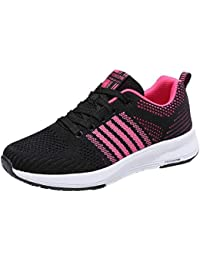 zycShang Chaussure De Sport Femmes Surface Nette Respirant Baskets Mode Mixte Adulte Course Sneakers Casual Gym Fitness Trail Jogging Trainers Shoes Semelles Conforts Design