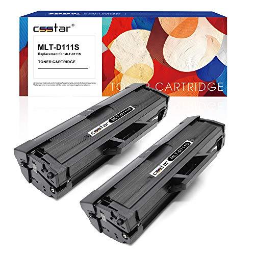 Csstar compatibile cartuccia di toner per samsung 111s mlt-d111s per xpress sl-m2070w sl-m2022w sl-m2020w sl-m2026w sl-m2070fw sl-m2078w sl-m2020 sl-m2022 sl-m2026 sl-m2070 stampante, 2 pezzi nero