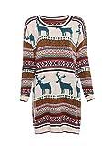 Vogue of Eden Women's Oversized Christmas Reindeer Snowflake Pullover Sweaters