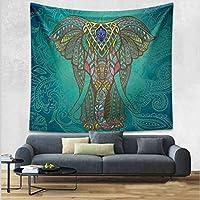 210cm tapiz Bohemia estilo pared (Verde oscuro elefante)