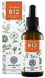 Vitamin B12 Tropfen in 50ml (1700 Tropfen). Hochdosiert: 1000µg je Tagesdosis. Beide aktive B12 Formen: Methyl- & Adenosylcobalamin. Hoch bioverfügbar, laborgeprüft, vegan, hergestellt in Deutschland