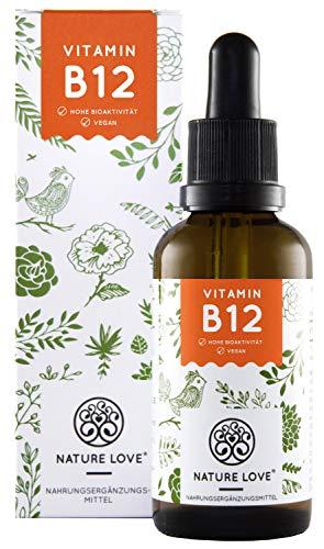 Vitamin B12 Tropfen Vegan in 50ml (1700 Tropfen). Hochdosiert: 1000µg je Tagesdosis. Beide aktive B12 Formen: Methyl- & Adenosylcobalamin. Hoch bioverfügbar, laborgeprüft, hergestellt in Deutschland -