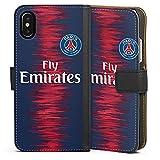 DeinDesign Apple iPhone X Étui Étui Folio Étui magnétique Paris Saint Germain Produit sous Licence Officielle Maillot PSG