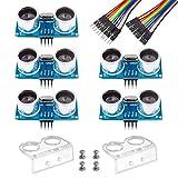 Smraza 5er HC-SR04 Ultraschallmodul und Distanzsensor mit 2pcs Karikatur Montagewinkel für Arduino UNO R3 Mega2560 Duemilanove Nano Robot XBee ZigBee