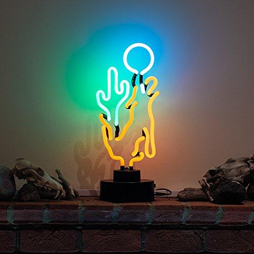 Coyote Moon Kaktus Skulptur–Echter Neon (nicht LED)