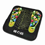 sourcingmap® Plastic Walk Stone Square Healthy Foot Massage Mat Pad Cushion Colored