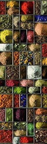 DECORATION adhésive pour CUISINE et réfrigérateurs Carrés d' Épices Autocollant, Polyvinyle, Multicolore, 59,5 x 0,1 x 180 cm