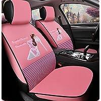XH Cojín De Coches De Las Señoras Cute Cartoon Seat Lace Cuatro Estaciones Del Coche Cojín De Coches , Pink,pink