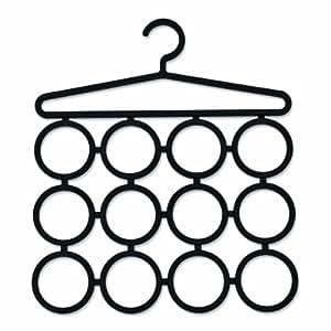 Zeller 99933 Support de rangement pour foulards et écharpes PVC Noir 39 x 45 cm