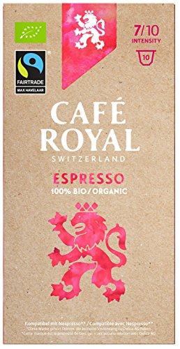 Café Royal Espresso Bio / Organic, 50 Nespresso kompatible Kapseln, 5er Pack (5 x 10 Kaffeekapseln)