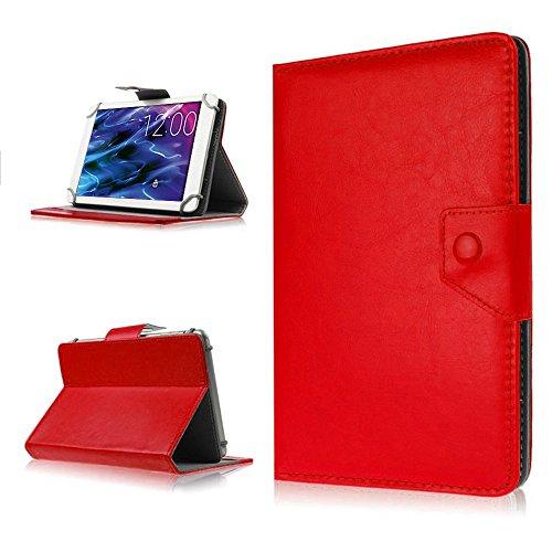 na-commerce Tablet Hülle für Medion Lifetab P8514 P8314 P8312 S8312 Tasche Schutzhülle Case, Farben:Rot