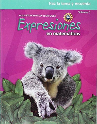Math Expression, Grade 1 Homework & Remembering Workbook: Houghton Mifflin Harcourt Math Expression Spanish (Math Expressions 2009-2012) por Houghton Mifflin Harcourt