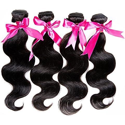 Emmet brasiliano capelli umani vergini non trasformati tessitura 7a Body