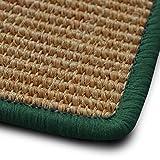 casa pura Sisal Teppich myStyle | viele Größen | mit Umkettelung in Wunschfarbe | für modernes und individuelles Wohnen (grün umkettelt, 300x400 cm)