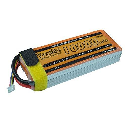 Youme RC batteria LiPo 3S 10000 mAh 11.1 V 25 C max 50 C Akku con Deans T connettore per RC Hubschrauber auto Boot drone quadricottero