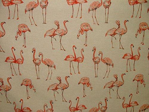 1m Flamingos Vintage Leinen Optik Tier-print Designs Vorhang Polster Stoff (Polsterstoff Vorhang)