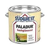 SÜDWEST PALADUR Klarlack für Holz Bootslack Parkettsiegel hochglänzend K 27 farblos 2,5 Liter Innen &Außen