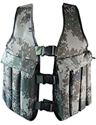 Yosoo 20KG / 44LBS Adjustable Camouflage Weighted Vest Training Workout Fitness Exercise Jacket