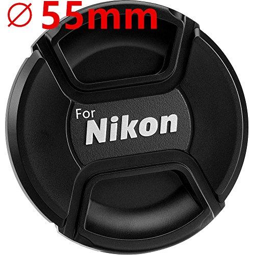 Hirondelle Bleue Bouchon (Cache Objectif) de Remplacement Compatible diamètre 55mm, Seulement Compatible avec Objectif Nikon AF-P DX 18-55mm f/3.5-5.6G VR
