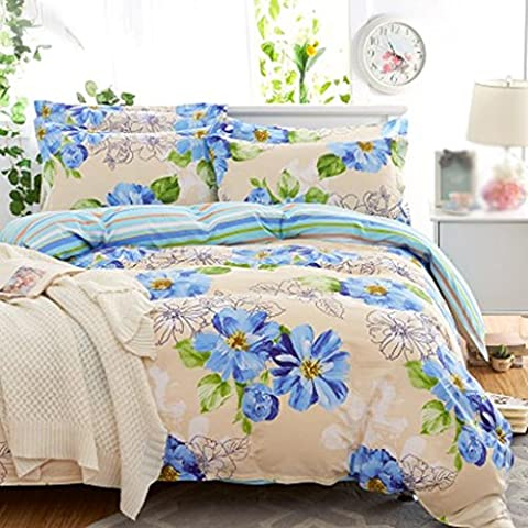 Bettwäsche Baumwolldruck 1,5 / 1,8m Bettwäsche 4 Stück Sets (1 Bettwäsche + 1 Steppdecke + 2 Kissenbezüge) , 6 , 1.8m (5 feet) bed