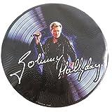 Johnny Hallyday [P9985] - Tapis de souris 'Johnny Hallyday' disque vinyl - 19 cm