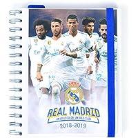 Grupo Erik Editores - Agenda escolar REAL MADRID 2018/2019 Semana vista, 15,5 x 19 cm