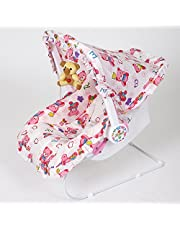 Archana NHR Multipurpose (9 In 1) Baby Carry Cot With Mosquito Net And Sun Shade - Pink