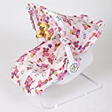 #9: Dash Multipurpose (9 in 1) Pink baby carry cot with mosquito net and Sun shade