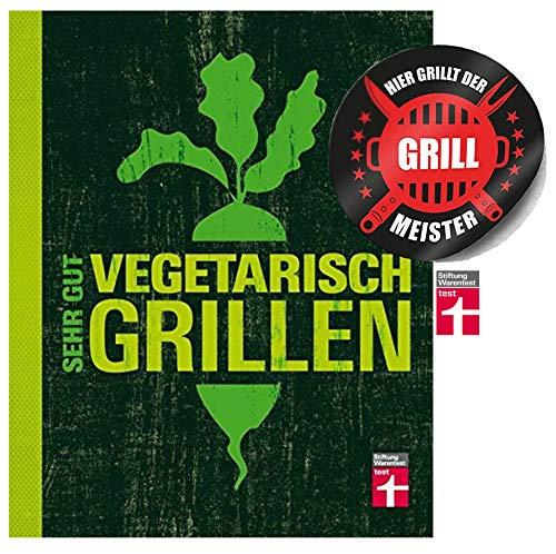 Stiftung Warentest Sehr gut vegetarisch Grillen Gebundenes Buch + Grillmeister Sticker by Collectix