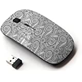 KOOLmouse [ Optical 2.4G Wireless Computer Mouse ] [ Black And White Indian Pattern ]