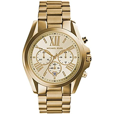 Michael Kors MK5605 - Reloj de cuarzo con correa de acero inoxidable para mujer, color dorado