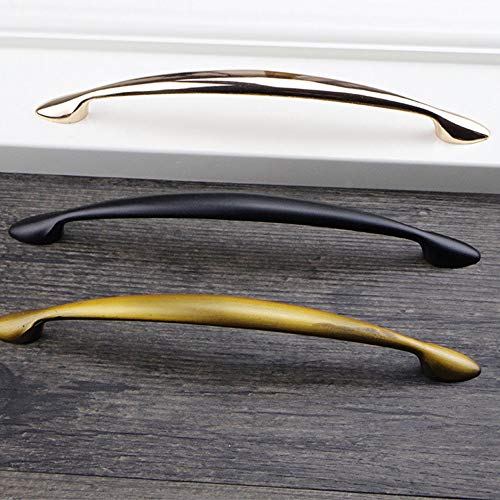 Behandeln Antiker Kabinett-Fach-Aufbereiter zieht Zink-Legierungs-Küchen-Schlafzimmer-Badezimmer-Hardware (Color : Gold, Size : 160mm) -