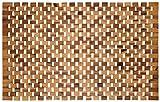 Holzbadematte Rutschfest Badvorleger Robust Holzmatte Badezimmer Sauna Wellnessbereich Badteppich 100% Akazienholz 50x80 cm