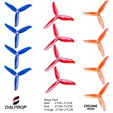 DALPROP CYCLONE Tri-Blade High-Speed Propeller 3 Leaf Props T5045C 6Pairs/12pieces(6CW/6CCW) for Drone Quadcopter FPV RC Racing