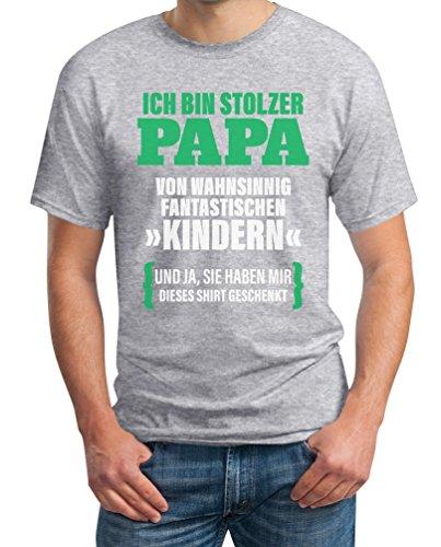 Geschenk für Vater - Ich Bin Stolzer Papa von Fantastischen Kindern T-Shirt XXXX-Large Grau